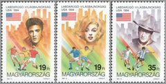 #3447-3449 Hungary - 1994 World Cup Soccer Championships, US (MNH)