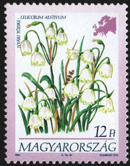 #3451-3454 Hungary - Flowers of the Continents Type of 1990 (MNH)