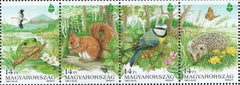 #3495a Hungary - European Nature Conservation Year, Strip of 4 (MNH)