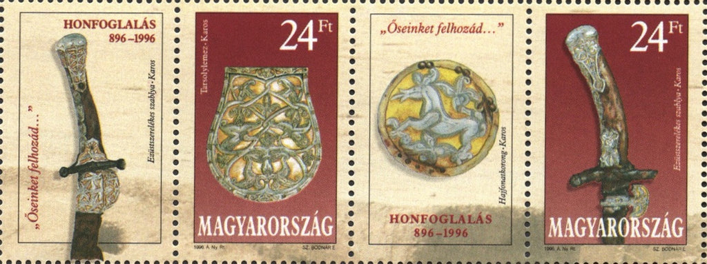 #3516 Hungary - Archeological Finds, Strip (MNH)