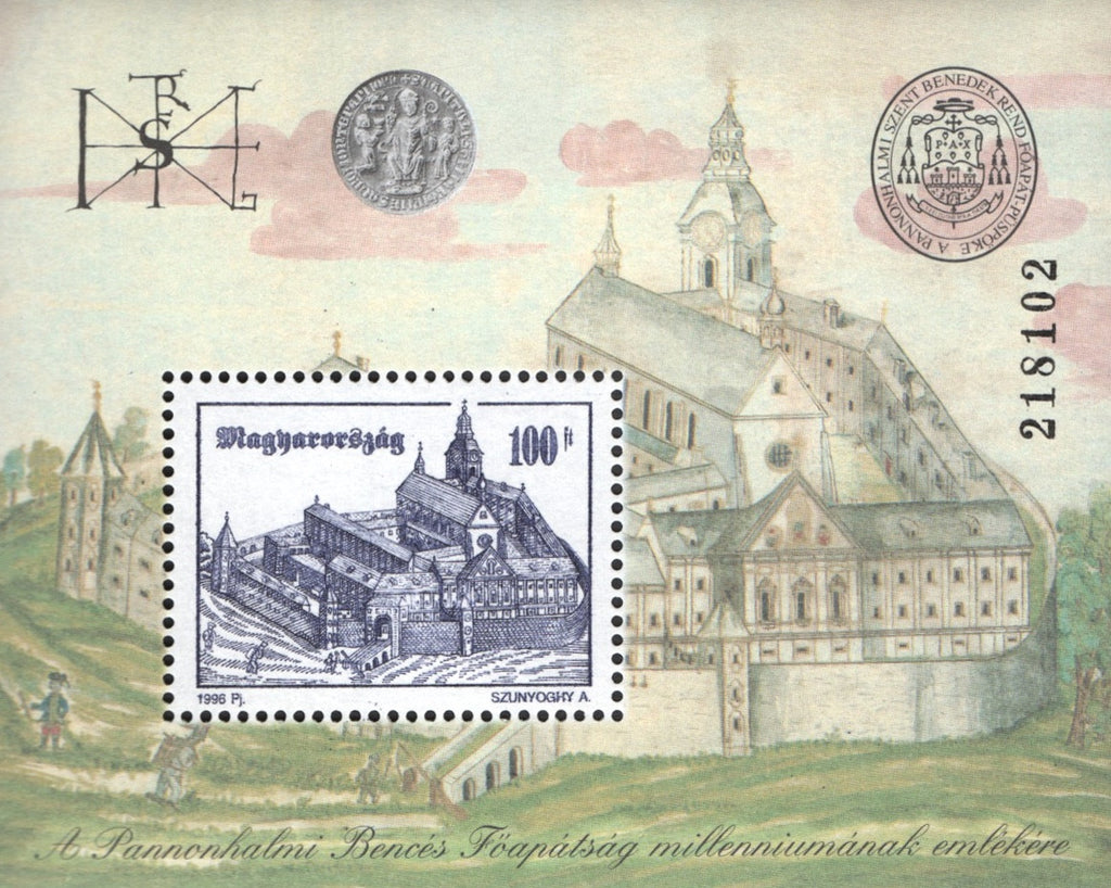 #3517 Hungary - 1000th Anniv. of Pannonhalma S/S (MNH)