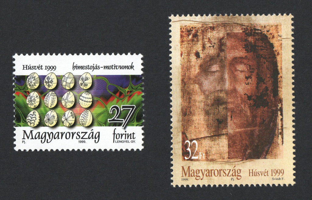 #3633-3634 Hungary - 1999 Easter (MNH)