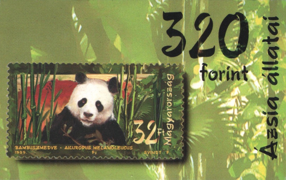 #3659 Hungary - Animals of Asia: Giant Panda, Complete Booklet (MNH)