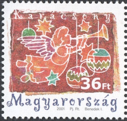 #3777 Hungary - 2001 Christmas (MNH)