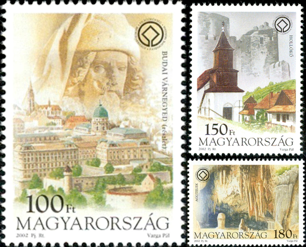 #3809-3811 Hungary - UNESCO World Heritage Sites, Set of 3 (MNH)