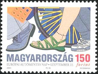 #3861 Hungary - European Automobile-free Day (MNH)