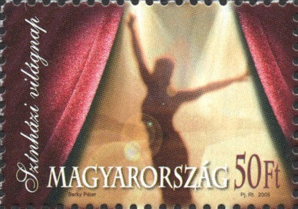 #3925 Hungary - 2005 World Theater Day (MNH)