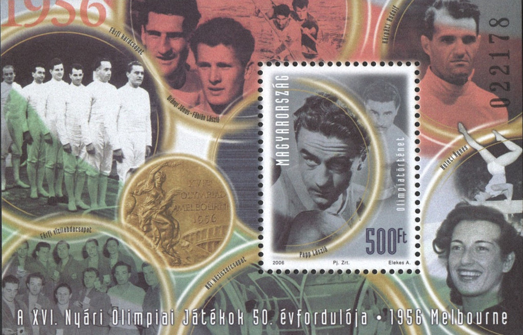 #4007 Hungary - 1956 Melbourne Olympics, 50th Anniv. S/S (MNH)