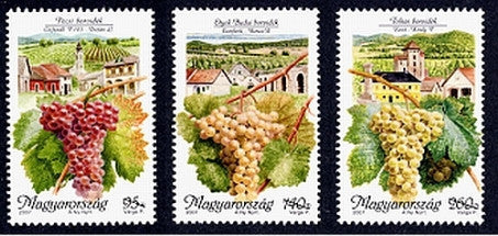 #4037-4039 Hungary - Grapes and Wine Producing Areas Type of 1990 (MNH)
