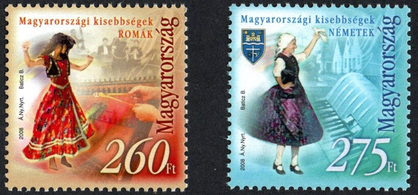 #4061-4062 Hungary - Romany and German Dancers, Set of 2 (MNH)