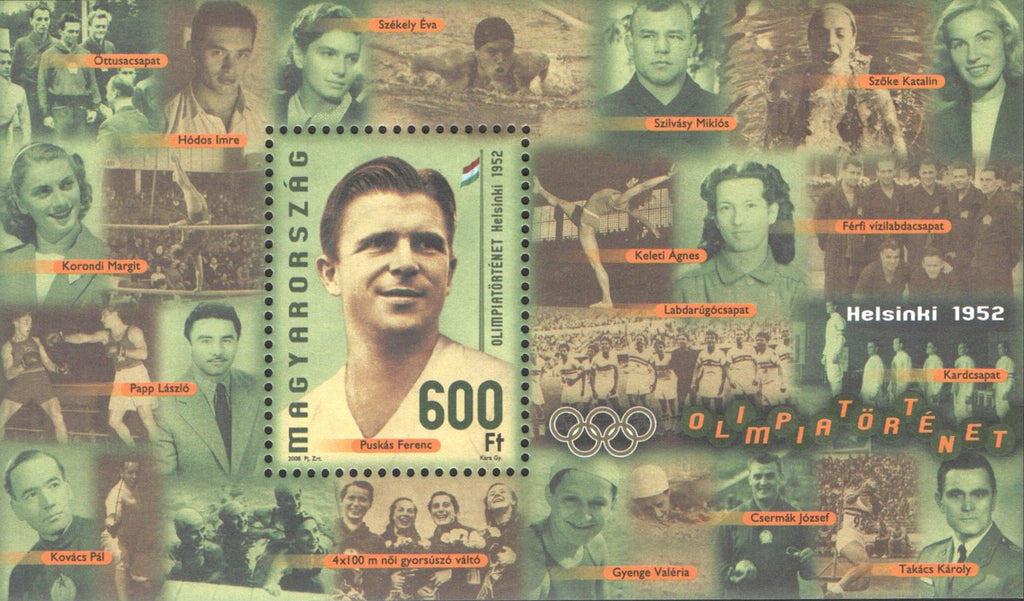 #4097 Hungary - Ferenc Puskás, Olympic Soccer Player (S/S)