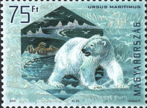 #4113-4116 Hungary - Preservation of Polar Regions and Glaciers, Litho. & Silk-Screened (MNH)