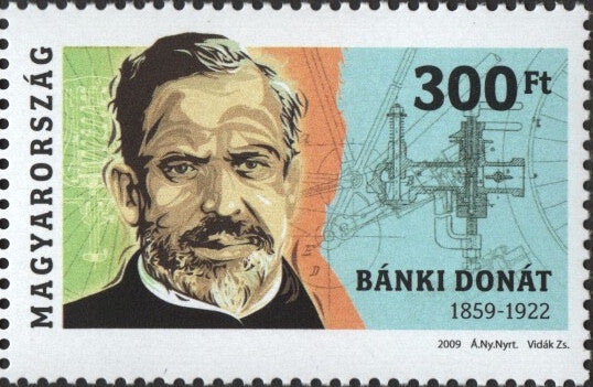 #4128 Hungary - Donát Bánki, Inventor of the Carburetor (MNH)