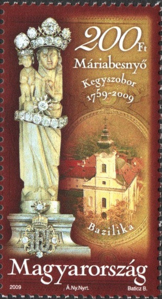 #4132 Hungary - Discovery of Statue of Virgin Mary, Máriabesnyő (MNH)