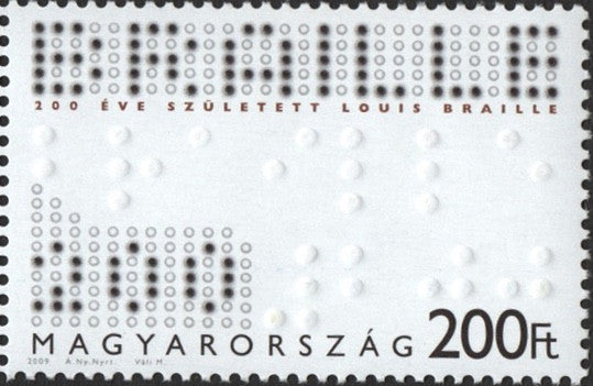 #4138 Hungary - Louis Braille, Educator of the Blind (MNH)