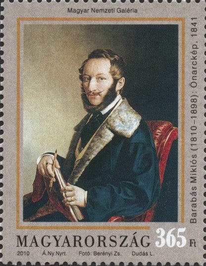 #4169 Hungary - Self-Portrait of Miklós Barabás (MNH)