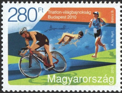 #4170 Hungary - World Triathlon Championships, Budapest (MNH)
