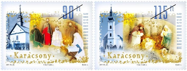 #4217-4218 Hungary - 2011 Christmas (MNH)