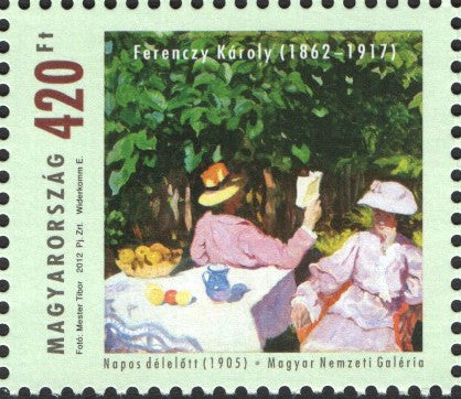 #4222 Hungary - Morning Sunshine, by Károly Ferenczy (MNH)
