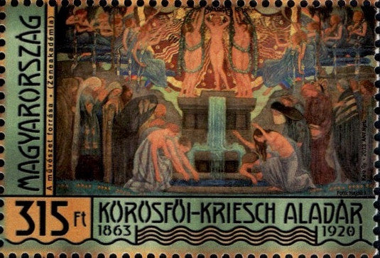 #4296 Hungary - The Source of Art, by Aladar Korosfoi-Kriesch (MNH)