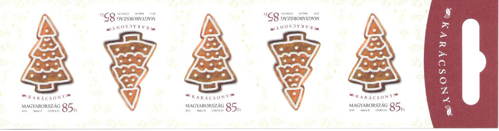 #4300a Hungary - 2013 Christmas, Booklet Pane of 5 (MNH)