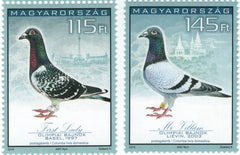 #4338-4339 Hungary - 34th Racing Pigeon Olympiad, Budapest (MNH)