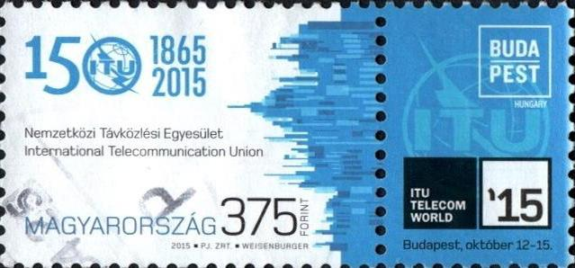 #4368 Hungary - International Telecommunication Union, 150th Anniv. (Used)
