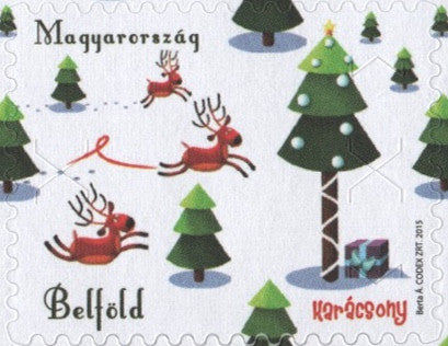 #4371 Hungary - 2015 Christmas, Single Stamp (MNH)