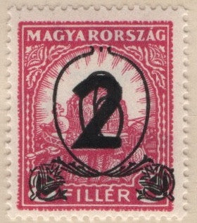 #466-467 Hungary - Nos. 451 and 454 Surcharged (MNH)