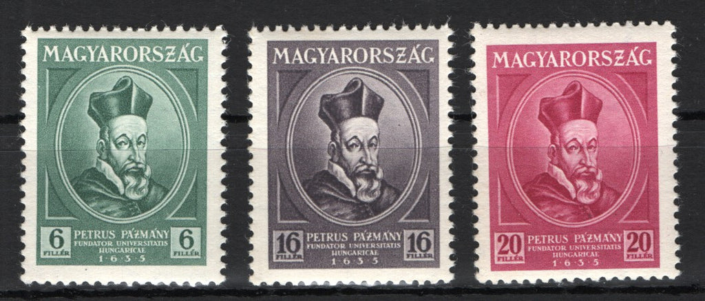 #492-497 Hungary - Tercentenary of the founding of the University of Budapest (MNH)