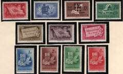 #829-839 Hungary - Hungary's War for Independence, Cent. (MNH)