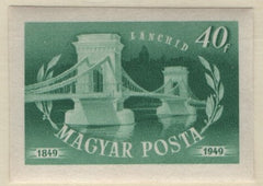 #861-863, C64-C65 Hungary - Chain Bridge, Imperf (MNH)