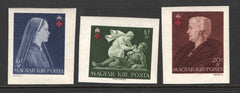 #B148-B150 Hungary - Red Cross, Imperf, Set of 3 (MNH)