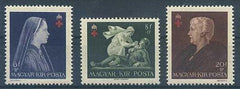 #B148-B150 Hungary - Red Cross, Perf, Set of 3 (MNH)