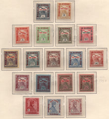 #B35-B52 Hungary - Regular Issue of 1913 Surcharged in Red or Green (MNH)