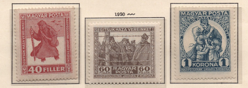 #B69a-B71 Hungary - Prisoners of War (MNH)