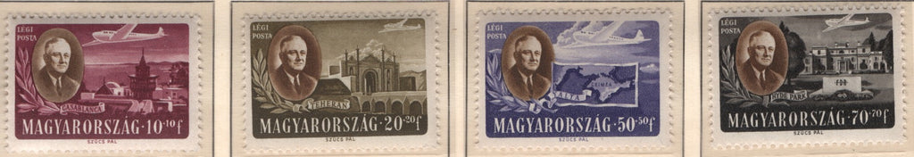 #CB1-CB1C Hungary - Roosevelt Type of Semipostal Stamps, 1947, Set of 4 (MNH)