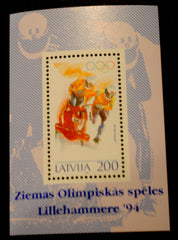 #360 Latvia - Winter Olympics S/S (MNH)
