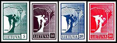#371-374 Lithuania - Angel and Map (MNH)