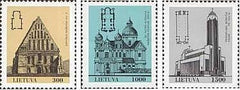 #437-439 Lithuania - Churches (MNH)