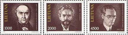 #446-448 Lithuania - Famous Lithuanians (MNH)