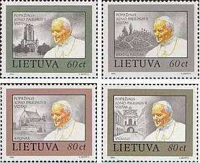 #461-464 Lithuania - Pope Paul II (MNH)