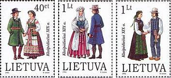 #539-541 Lithuania - Famous Costumes (MNH)