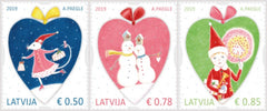 #1036-1038 Latvia - Christmas, Set of 3 (MNH)