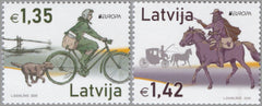 Latvia - 2020 Europa: Ancient Postal Routes, Set of 2 (MNH)