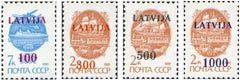 #308-311 Latvia - Russian Overprints (MNH)