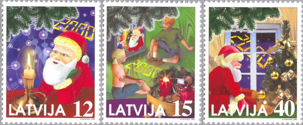 #499-501 Latvia - Christmas and Millennium (MNH)