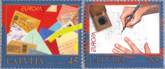 #707-708 Latvia - 2008 Europa: Writing Letters (MNH)