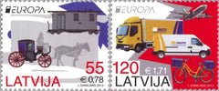 #830-831 Latvia - 2013 Europa: The Postman Van, Set of 2 (MNH)