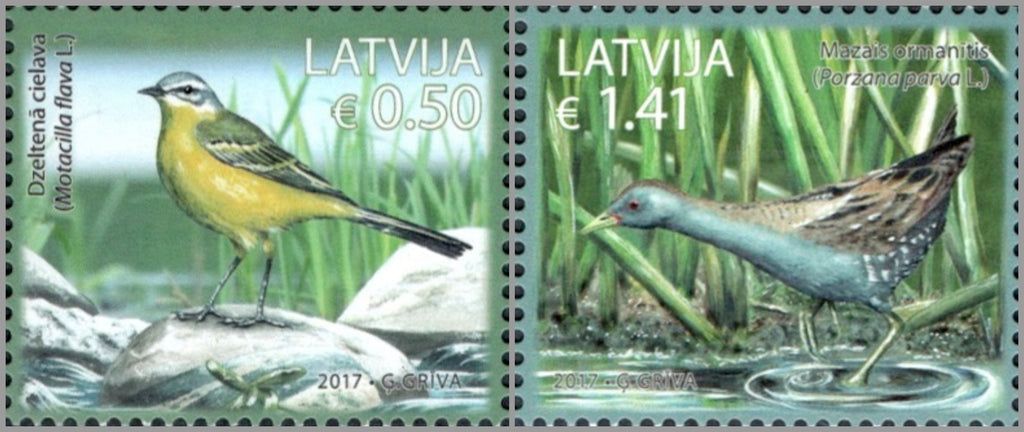 #968-969 Latvia - Birds, Set of 2 (MNH)